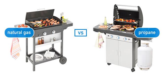 Propane vs. natural gas grill